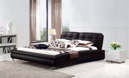 【Brand New】W5017 Real Leather bed Queen size from