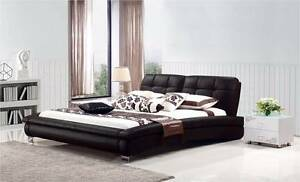 【Brand New】W5017 Real Leather bed Queen/King size from Nunawading Whitehorse Area Preview