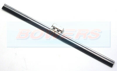 "10"" INCH CLASSIC CAR STAINLESS STEEL FLAT WIPER BLADE HINGED SPOON HOOK FITTING"