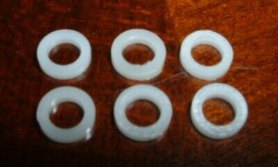 Guitar TUNER KNOB BUSHINGS White Tuning Machine Buttons 6 Gotoh Grover key *NEW*