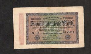 Germania-Impero-Tedesco-Banconota-Circolata-20000-Marchi-1923-Reichsbanknote