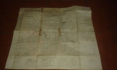 Map Geographical Map Military Army Military Map 1962 Settefrati 1:25000