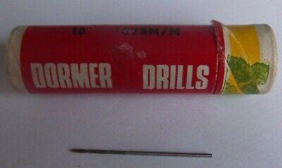 0.875 (0.875mm Dormer Jobber drill bit HSS)