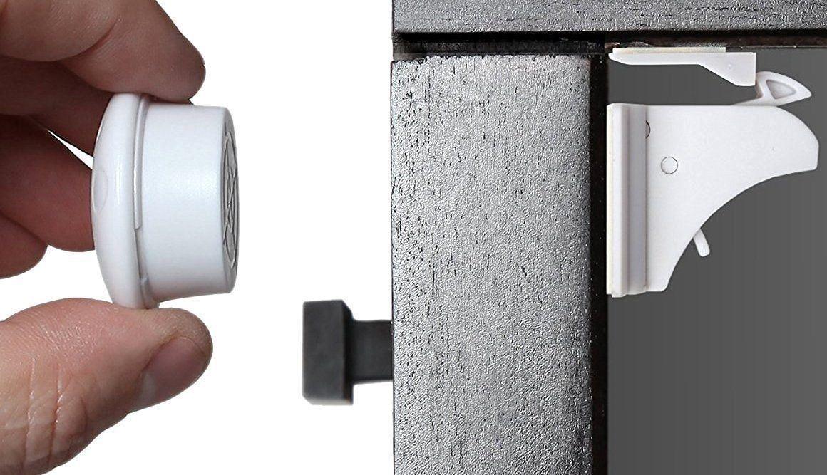 11 PCS! Magnetic Cabinet Locks Safety Baby Set 8 Locks + 3 Keys Child Proof Kit