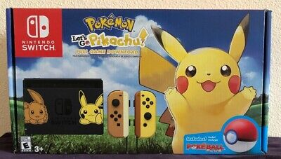 NIB Nintendo Switch Console Let's Go Pikachu! + Poke Ball Plus Edition