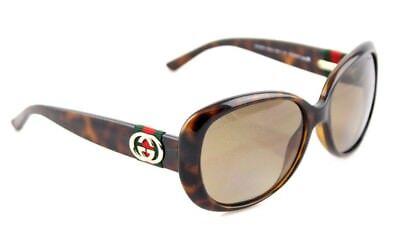 29d41bc08c9 POLARIZED New Authentic GUCCI Havana Brown Womens Sunglasses GG 3644 S DWJ  LA