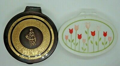 2 Vintage Helena Rubinstein powder compacts Mauresque Heavenly Glow Peachbloom
