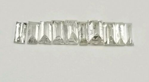 NATURAL DIAMOND, 10 STRAIGHT BAGUETTES 0.75 TCW D-H COLOR VS CLARITY. LIKE GIA.