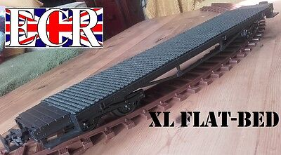 G SCALE 45mm GAUGE XL EXTRA LONG FLATBED 57cm TO BUILD ONTO RAILWAY FLAT TRAIN for sale  United Kingdom