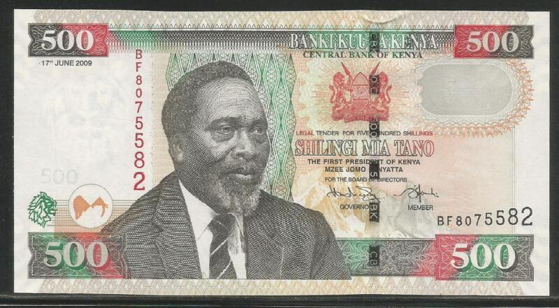 Kenya P-New 500 Shillings 2009 Unc