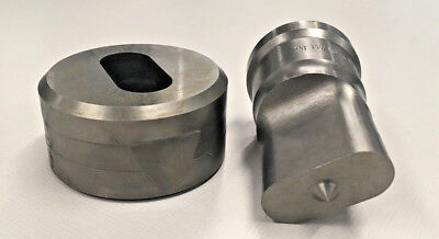 1116 X 1-12 Inch 45 Oblong Punch Die For Scotchman And Dvorak Ironworkers.