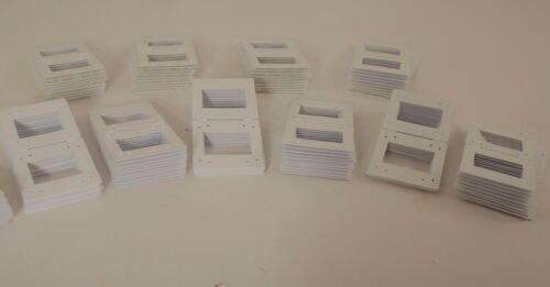 Pakon Plastic 35mm Slide Mounts (100) White - NEW - NO INTERNATIONAL ORDERS.