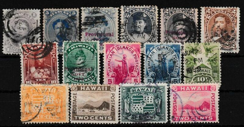 HAWAII ~ 15 DIFFERENT VALUE - USED!