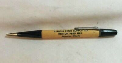 * Vintage Advertising Mechanical Pencil ILLINOIS FARM SUPPLY Benton Illinois