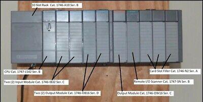 Allen Bradley Slc 500 10 Slot Plc Rack With Modules Slc 504 Cpu