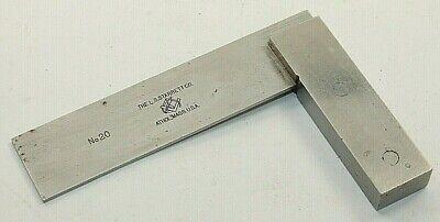 Vintage L.s. Starrett No.20 Precision Steel Square 3 Toolmakers Machinist Usa
