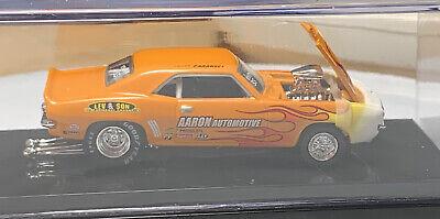 100% Hot Wheels '69 Chevy Camaro Pro Street Orange 1/64 Real Riders Chevrolet