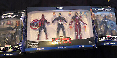marvel legends civil war 3 pack 2 Winter Solider Captain America Black Widow