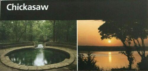New CHICKASAW NRA - Oklahoma   NATIONAL PARK SERVICE UNIGRID BROCHURE  Map