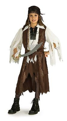 Girl CARIBBEAN PIRATE QUEEN Costume Dress Vest Scarf Small Child 4 5 6 Carribean](Carribean Costumes)
