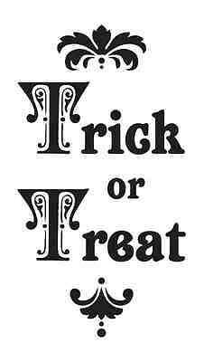HALLOWEEN STENCIL**Trick or Treat** for signs crafts scrapbook walls