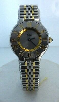 REDUCED! CARTIER MUST DE 21 WATCH 2 TONE