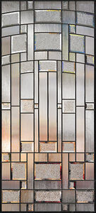 decorative glass and wrought iron inserts