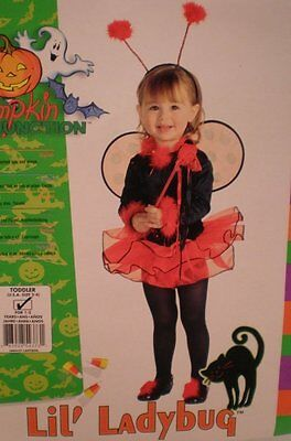 LIL' LADYBUG COSTUME 2-4 for ages 1-2 Rubies tutu wings Halloween 12 18 24 - Halloween Costumes For Age 12