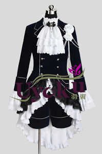 Kuroshitsuji Black Butler cosplay costume Ciel Phantomhive For Wig Party
