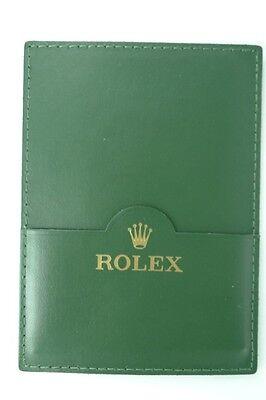 Genuine Rolex 30.01.05 Green Leather Wallet.