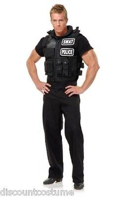 DELUXE QUALITY BLACK SWAT TEAM POLICE VEST HALLOWEEN COSTUME ACCESSORY ONE SIZE](Swat Team Vest Halloween)