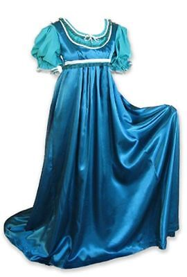 Regency Jane Austen 2 Piece Teal Ball Gown Costume Medium Vintage Fashion LARP (Teal Damen Kostüme)