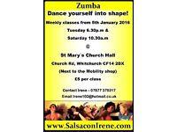 Zumba class in Cardiff