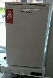 (ex display) Montpellier MRF48W 48cm Undercounter Fridge With 2* Icebox - White