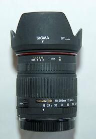 Sigma DC 18-200mm zoom lens. Canon fit.