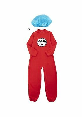 Dr.Seuss Thing 1 And 2 Maskenkostüm Rot Kostüm Outfit 5-8 Jahre