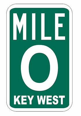 Mile Marker 0 Sticker Decal R1078 Key West Highway Sign