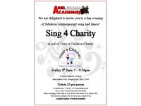 Ariel Drama Academy's 'Sing 4 Charity' Fundraiser in aid of Time 4 Children Charity