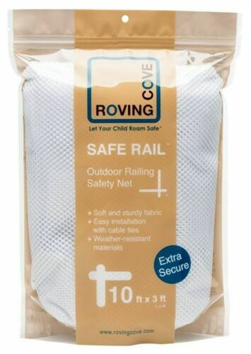 Roving Cove Safe Rail Indoor Bannister Railing Safety Net Baby Pets New 10 x 3