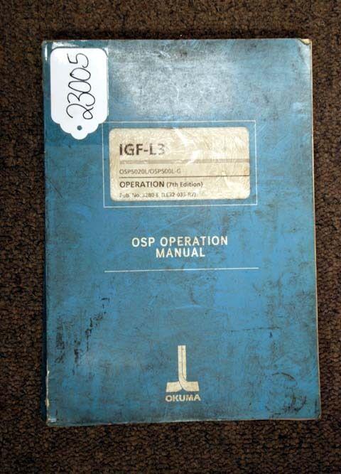 Okuma OSP Operation Manual
