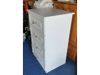 Sharp's bedroom furniture: white chest of drawers