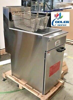 New 50 Lbs Commercial Deep Fryer Model Cd-f50 Stainless Steel Restaurant Nsf