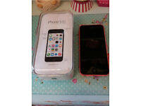 Immaculate & Unlocked iPhone 5C, Pink, 16 gb