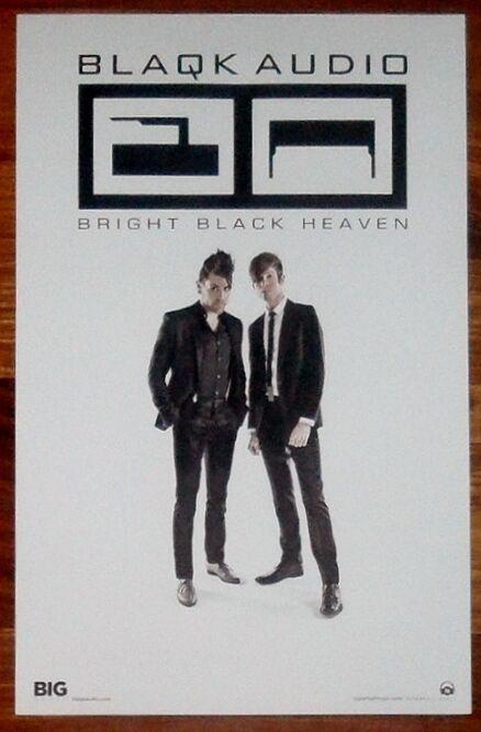 BLAQK AUDIO Bright Black Heaven Ltd Ed RARE Tour Poster +BONUS Punk Poster! AFI