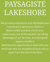 Paysagiste Lakeshore Lawn Maintenance Cuts Trimming clean up