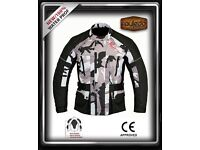 MENS CAMOFLAGE CE ARMOUR JACKET ALL WEATHER MOTORBIKE / MOTORCYCLE TEXTILE