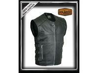 Last-Swat-Style Motorcycle Leather Vest