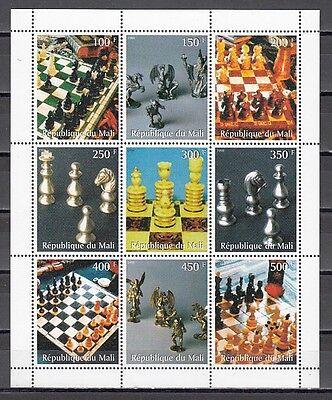 Mali, 1998 Cinderella Ausgabe Schach Sets und Stücke Blatt Of