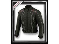 Mens DryLite Motorbike Motorcycle Jacket Wind/ Waterproof CE Armours