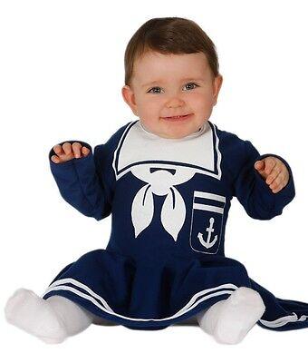 Baby Mädchen Marineblau Matrose Halloween Kostüm Kleid Outfit 6-12 12-24 monate
